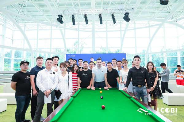 马克•赛尔比开杆 2019山岚杯慈善中式台球邀请赛揭幕