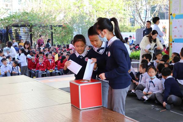 校长迎接、新闻人物评选 深圳百仕达小学的春季开学礼精彩纷呈