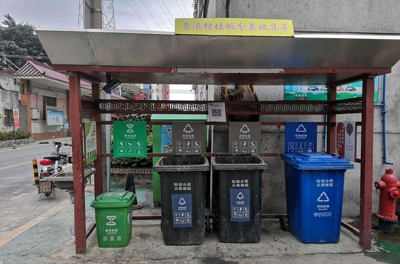 垃圾分类投放点时尚整洁 居民参与热情高